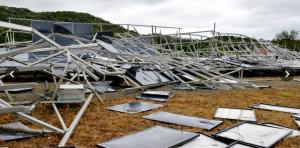 H27台風15号行橋市太陽光発電所被害