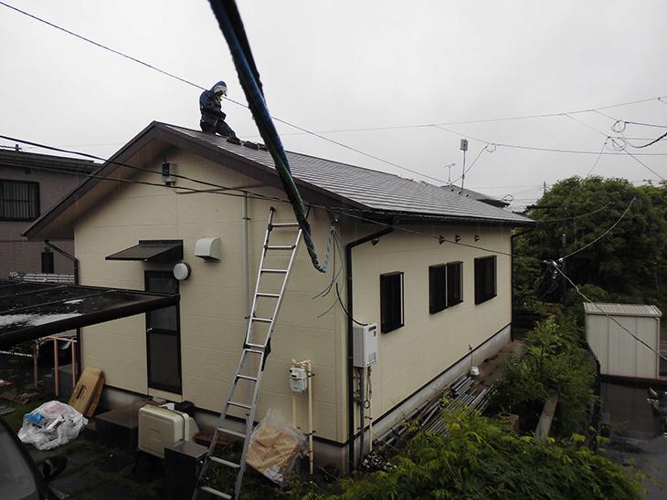 S様邸屋根上太陽光1