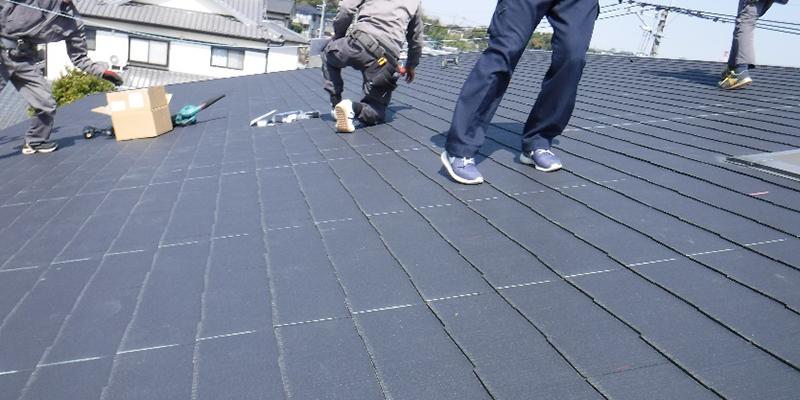 屋根墨出し