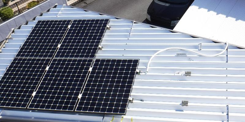 カーポート屋根設置完了
